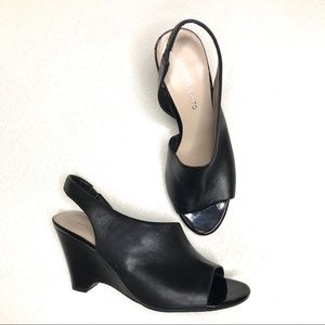 Franco Sarto Tahoe Black Wedge Sandals